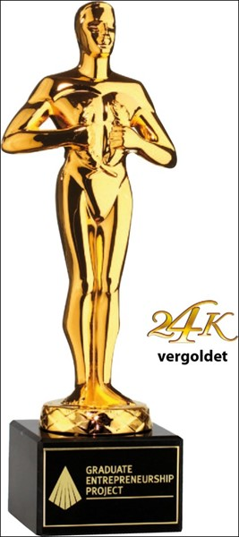 Bild von Classic Achievement Award 24K vergoldet Black Marble Base