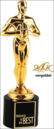 Bild von Classic Achievement Award 24K vergoldet Black Crystal Base